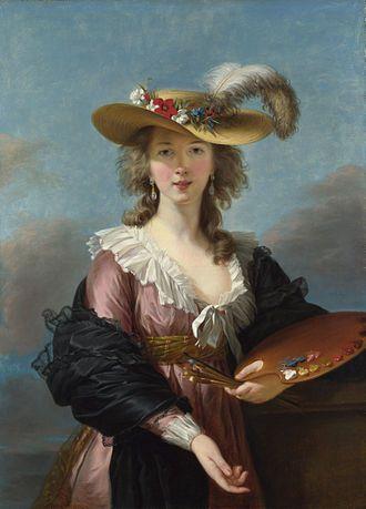 Self-portrait in a Straw Hat by Elisabeth-Louise Vigée-Lebrun