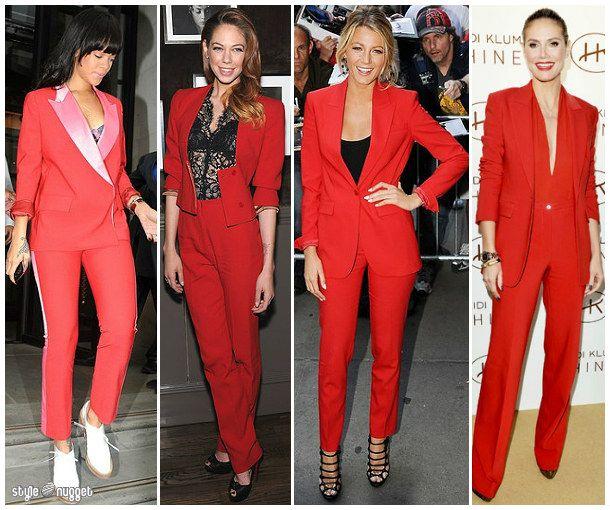 Red Pantsuit For Ladies