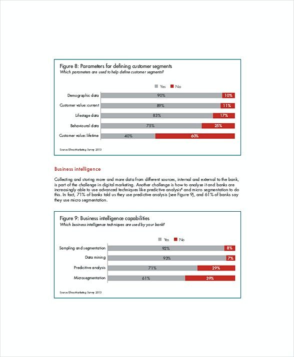 Sample Retail Banking Digital Marketing Report Template , 6 - marketing report sample