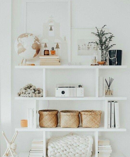 Bookshelves In Living Room