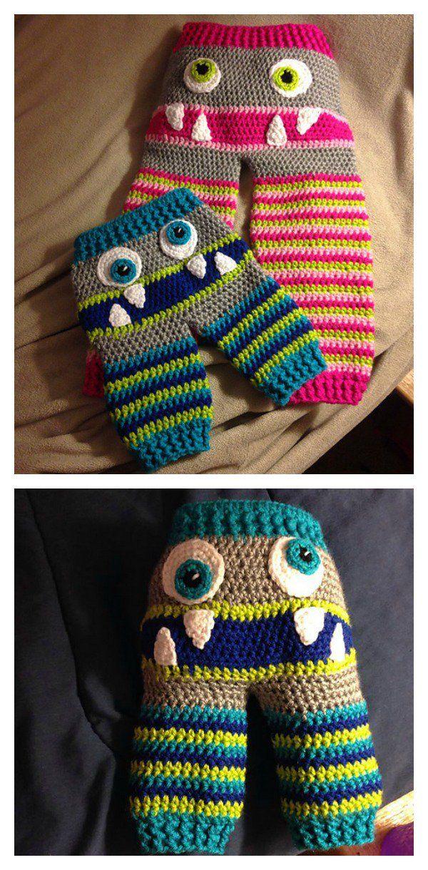 Cute Monster Butt Pants Crochet Patterns Crochet For Baby And Kids