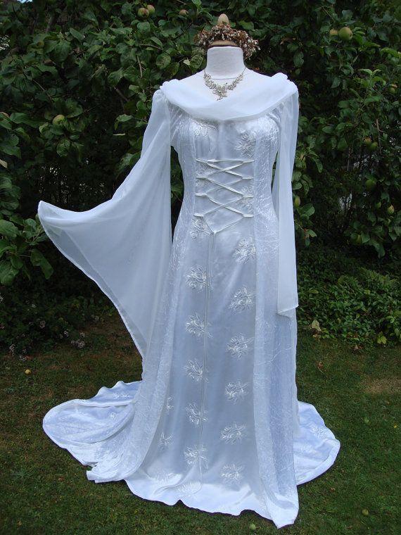 Ivory Goddess Bespoke Boho Lace Fantasy Gown Renaissance