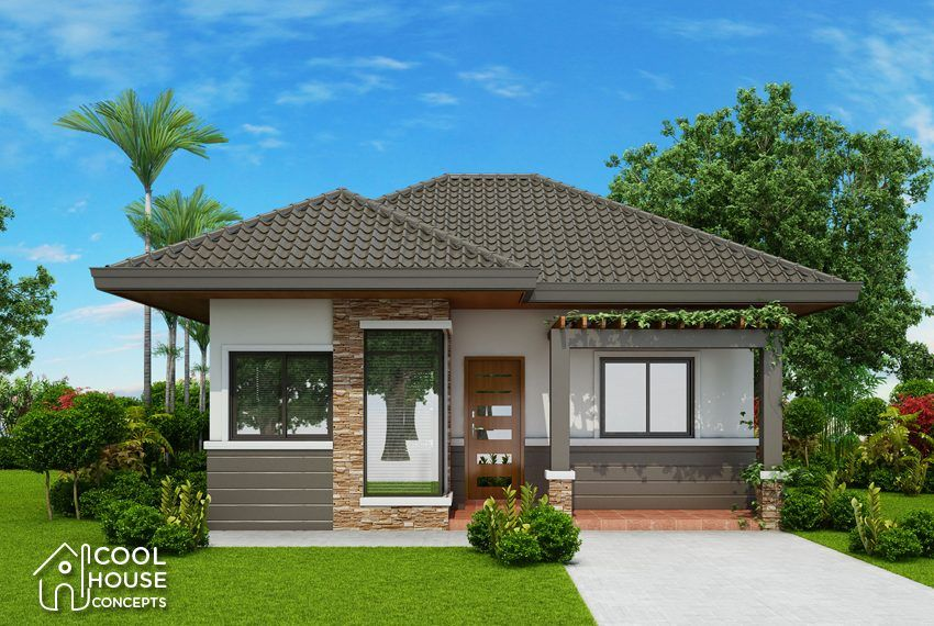 Chc18 011 Cam2 Two Bedroom House Design Bungalow House Design One Storey House