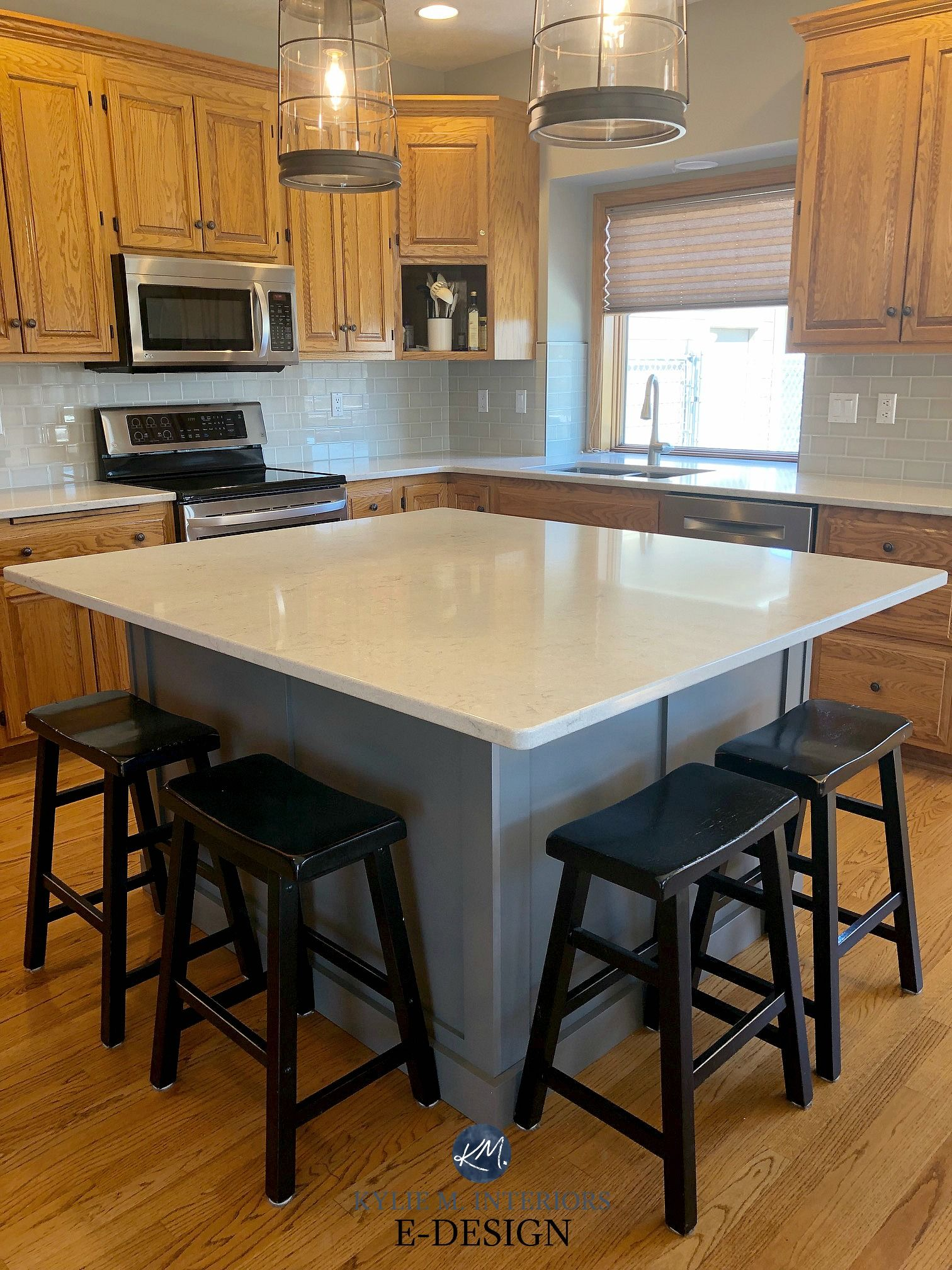 E-Design: 3 Painted Oak & Maple Kitchen Cabinet Projects ... on Maple Cabinets Kitchen Ideas  id=31857