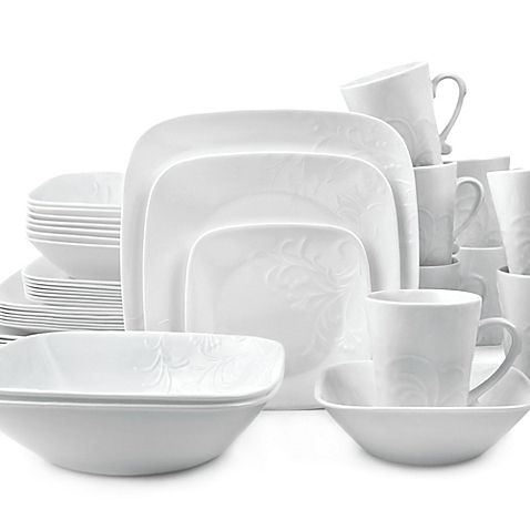 Corelle Boutique Cherish 42 Piece Dinnerware Set Square