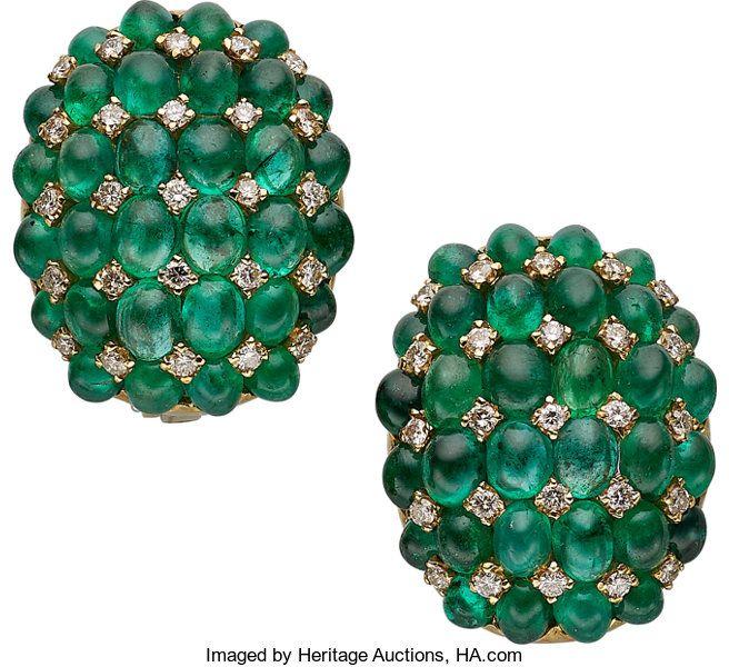 Ruby Wedding Gifts John Lewis: Estate Jewelry:Earrings, Emerald, Diamond, Gold Earrings