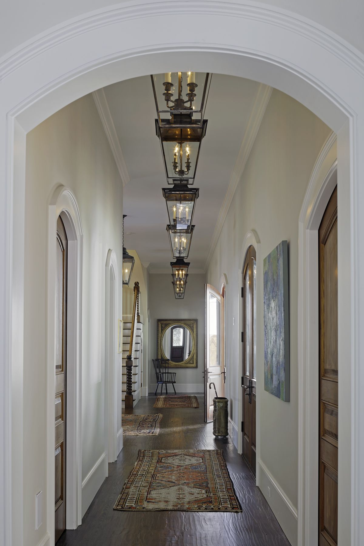 End of hallway decor  House Tour British Country House Style with a LaidBack Attitude in