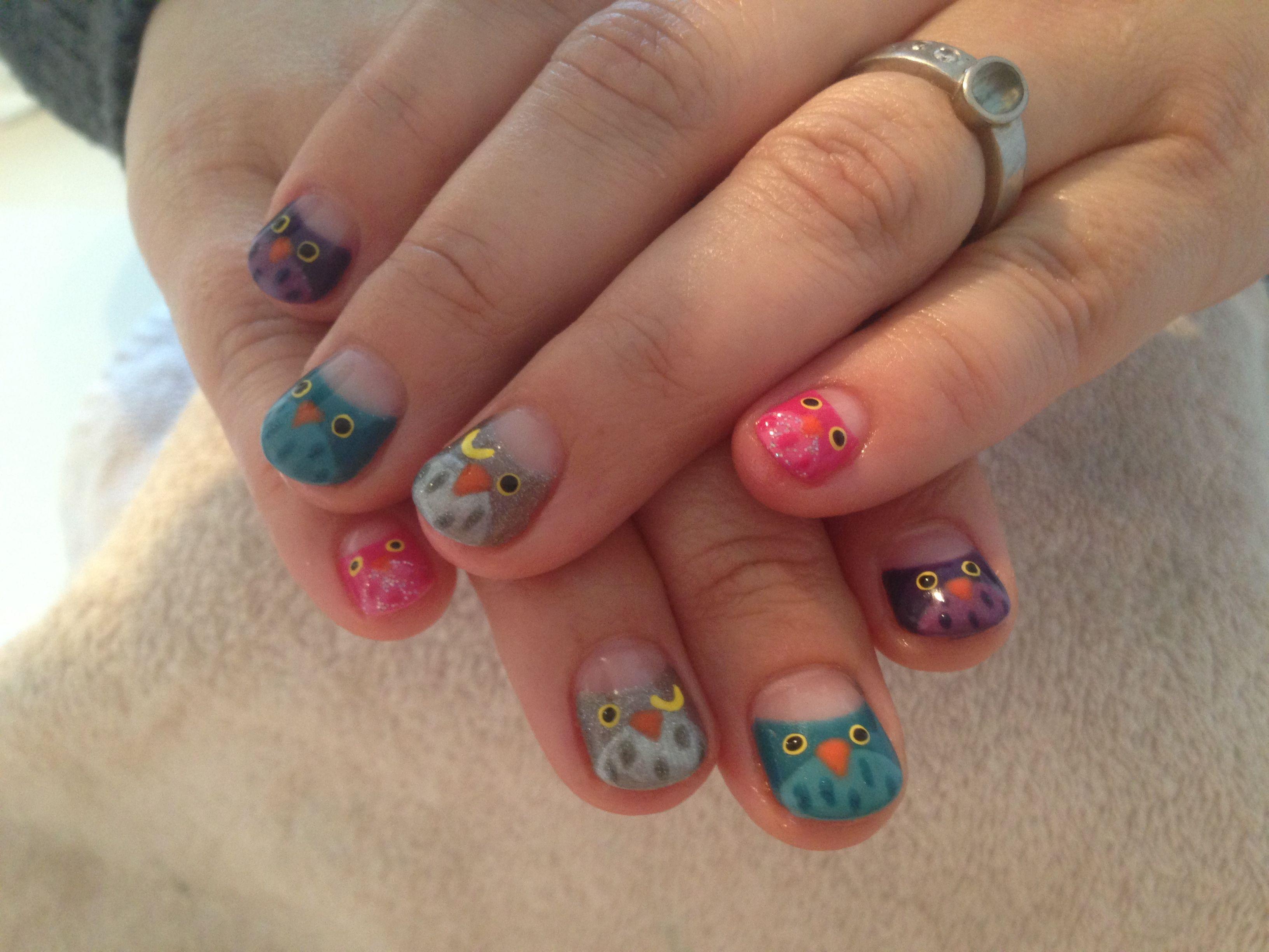 Owl nails :) | Nails | Pinterest | Owl nails