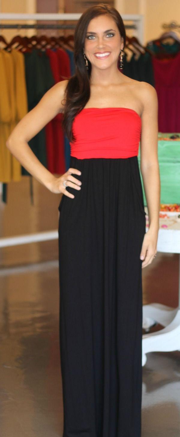 40ebbdf7e38 Red   Black Tube Dress Black Tube Dress