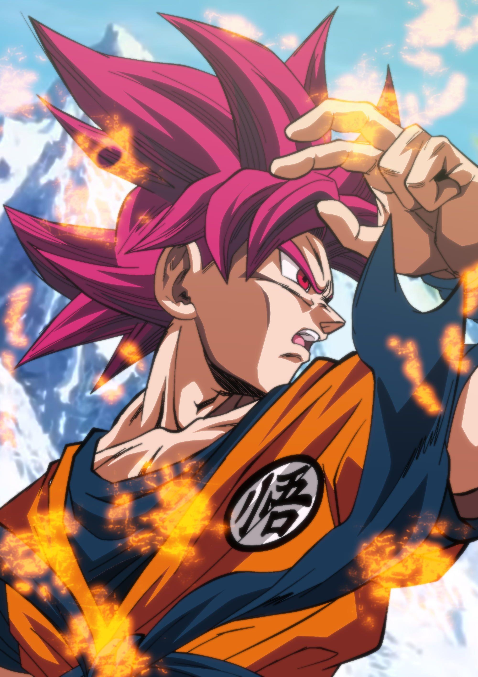 Son Goku Dragon Ball Super Anime Boys Anime Dragon Ball Red Eyes Redhead Super Saiyajin God Fan A Anime Dragon Ball Super Dragon Ball Super Manga Dragon Ball