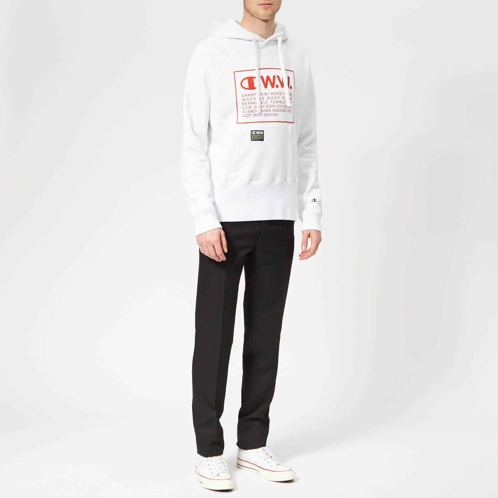 viele möglichkeiten Großhandelsverkauf günstig Champion X WOOD WOOD Men's Hooded Sweatshirt - White in 2019 ...