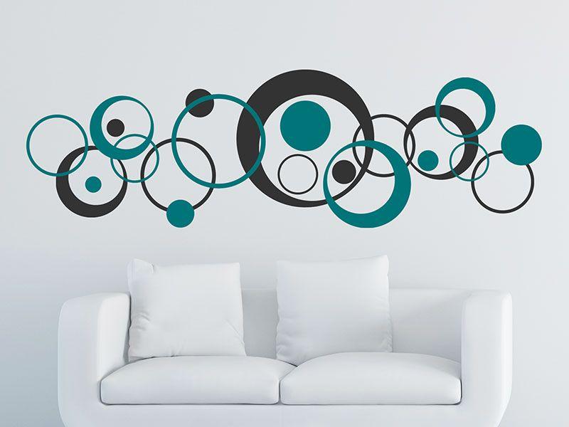Wandtattoo Retro Kreise zweifarbig | Wandtattoo | Pinterest ...