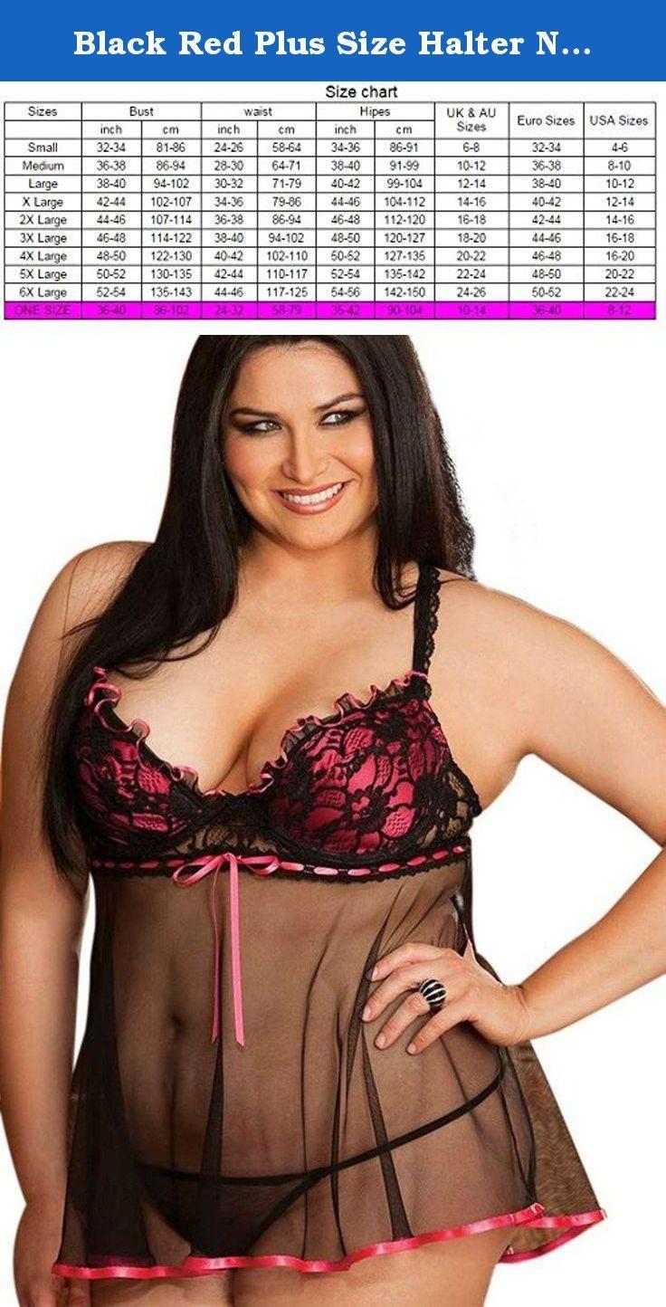 Women Lingerie Plus Size Black Mesh Babydoll G-string 8 10 12 14 16 18 20 22