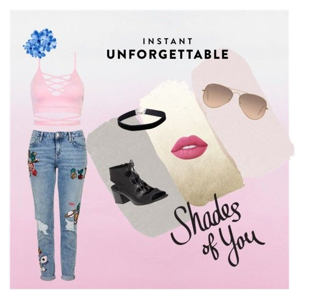 """Shades of You: Sunglass Hut Contest Entry"" by mariaavt on Polyvore featuring Ray-Ban, 275 Central, Lime Crime, Miss Selfridge, Topshop and shadesofyou"
