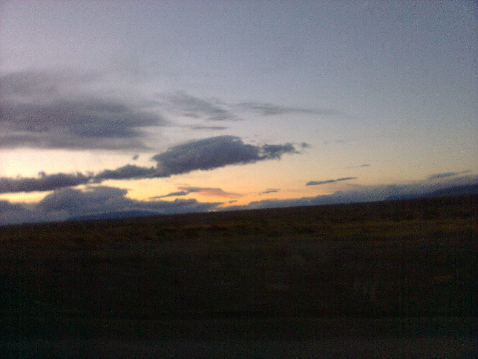 Amanecer Camino A Río Gallegos Pcia De Santa Cruz Argentina Santa Cruz Argentina Cielo Nubes