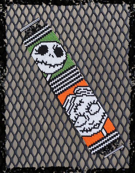 Halloween NIGHTMARE Jack and Sally peyote beaded by PicklesandCo ...