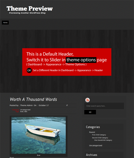 This free dark WordPress theme comes with threaded comments, Twitter ...