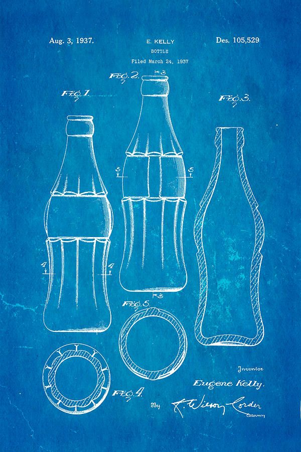 Coke bottle blueprint google blueprints pinterest coca cola bottle patent art 1937 blueprint print by ian monk all prints are professionally printed packaged and shipped within 3 4 business days malvernweather Choice Image