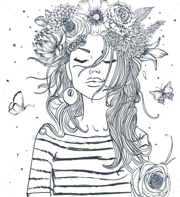 Girl With Coffee Cup Coloring Books Coloring Pages Coloring Pages For Girls