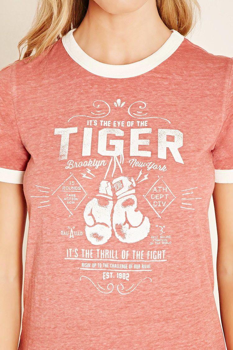 a3a5365cf Eye of the Tiger Ringer Tee | Shirt Lifter | Pinterest