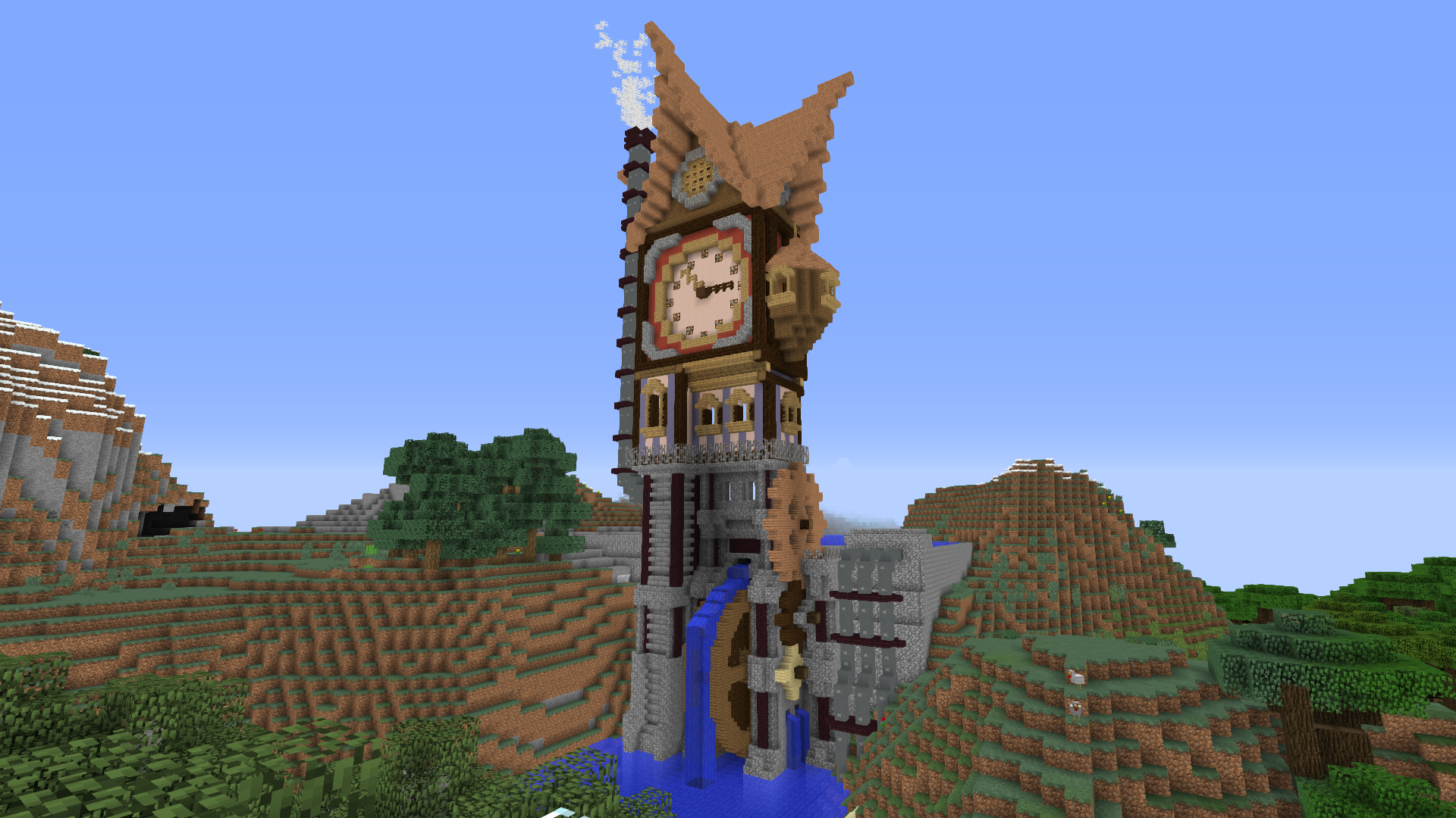 Minecraft Steampunk Tower Minecraft Steampunk Minecraft