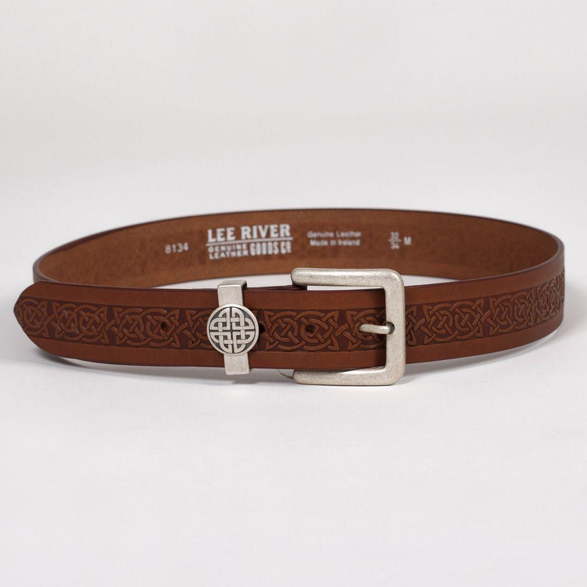 Green leather belt mens belt embossed leather belt mens leather belt womens belt celtic belt celtic leather belt