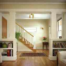 Traditional Living Room By Emerick Architects Want To Build Divider Like This In Dining Cordon Off Entry Way
