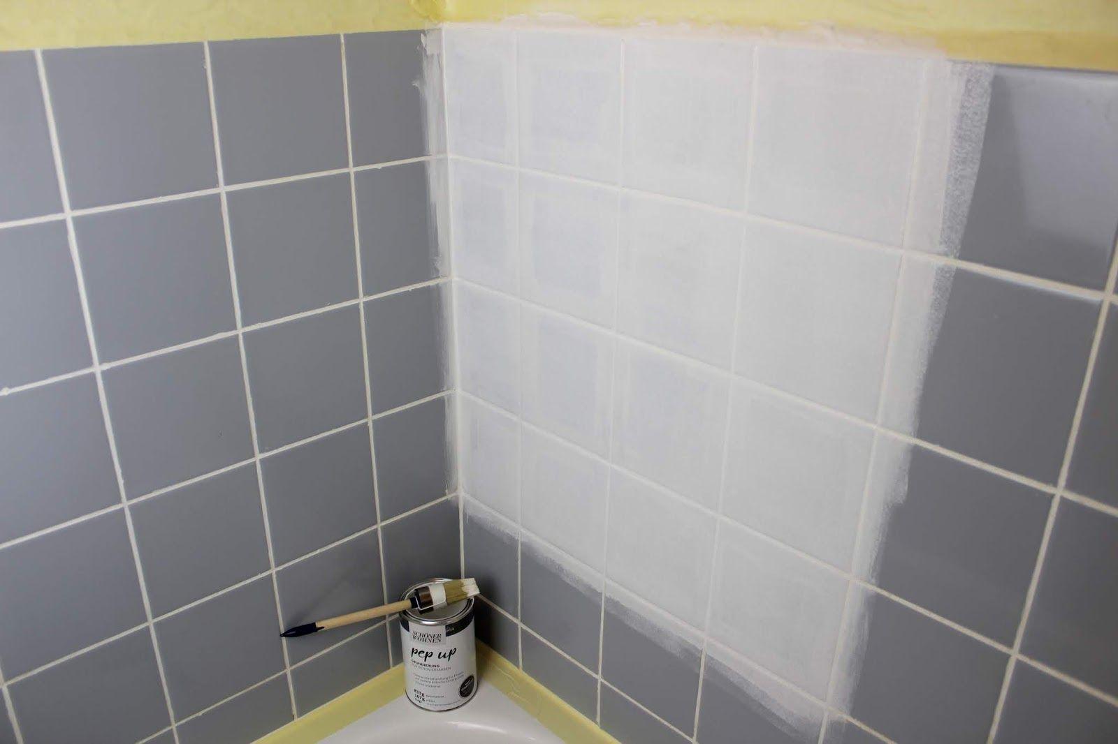Diy Badezimmer Streichen Und Renovieren Mit Fliesenfarbe Badezimmer Streichen Schoner Wohnen Farbe Renovieren