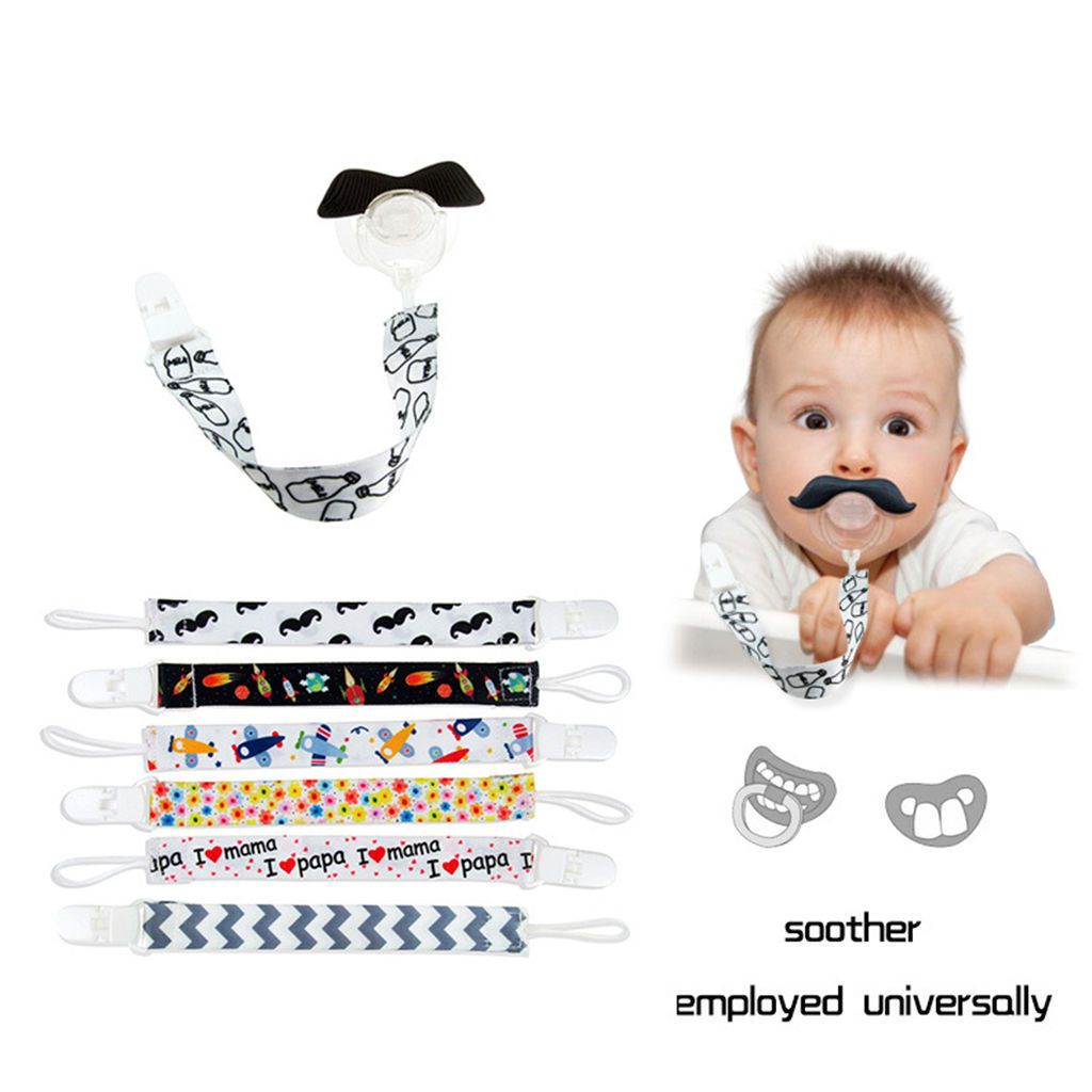 Baby Kids Boy Girl Chain Clip Holders Dummy Pacifier Soother Nipple Leash Strap