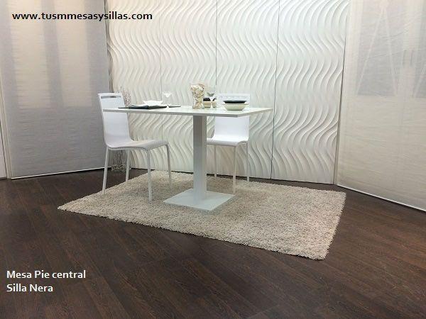 Mesa moderna en madera y negro quadra, extensible, haya y sillas ...