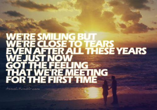 Meeting for the first time lyrics