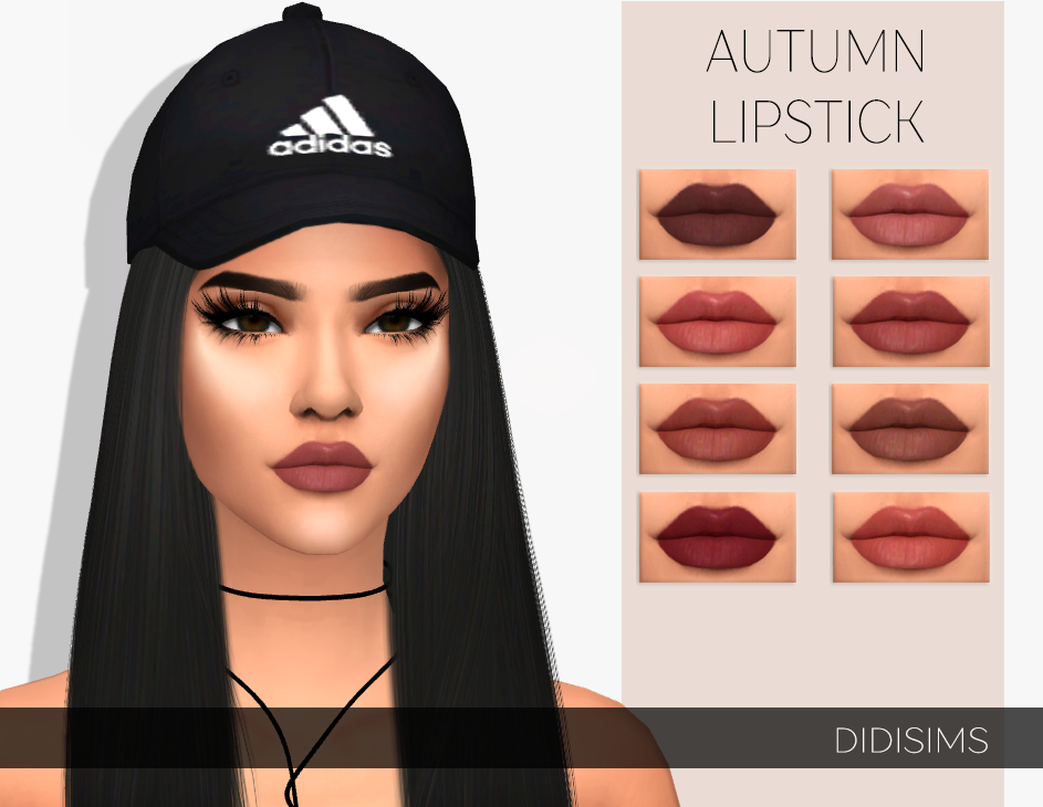 """Sims 4 CC-#Sims-Sims 4 CC  didisims: """"AUTUMN LIPSTICKThis lipstick I was inspired by the season in we are and the colors make me think in the season and all the colors I love! There are only warm colors I think. Again I'm so happy to see I'm 1,2K followers already and I want… #makeupideas"""