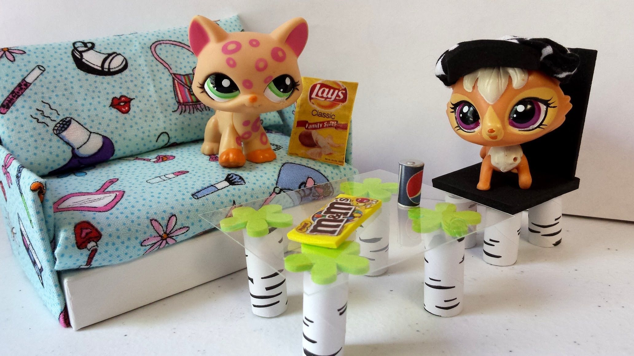 Littlest Pet Shop Bedroom Decor How To Make A Tiny Coffee Table Plus Matching Chair Easy Lps Doll