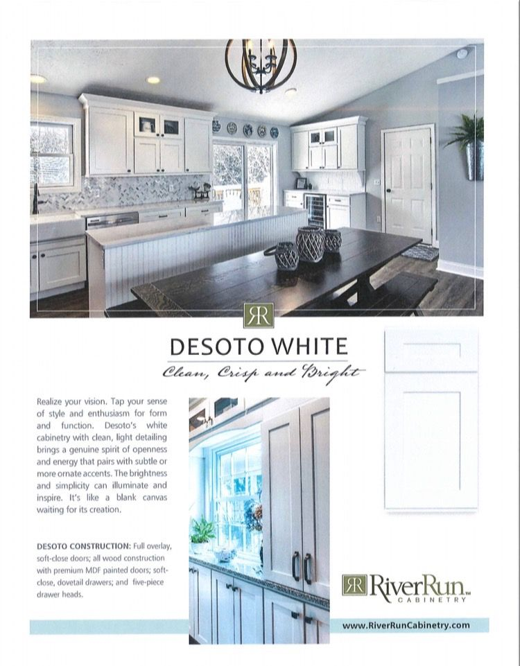 Crown Molding by Desoto White River Run Cabinets from ...