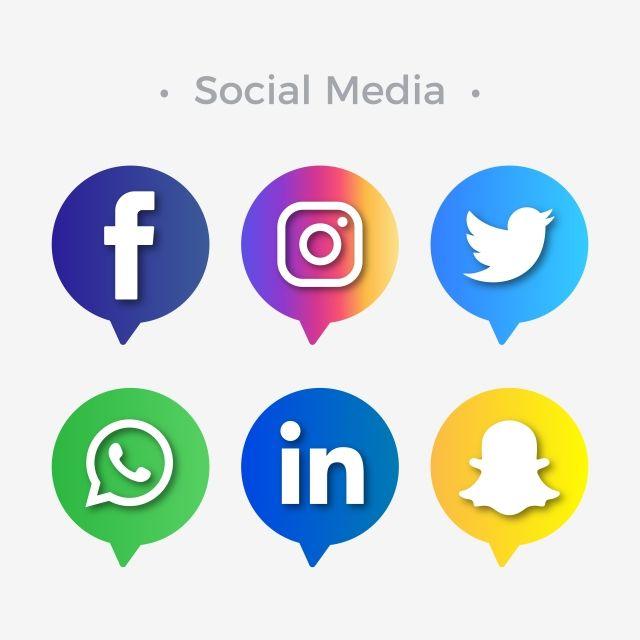 Icones Para Ilustracao De Redes Sociais Redes Sociais Icones Redes Sociais Imagens Para Zap