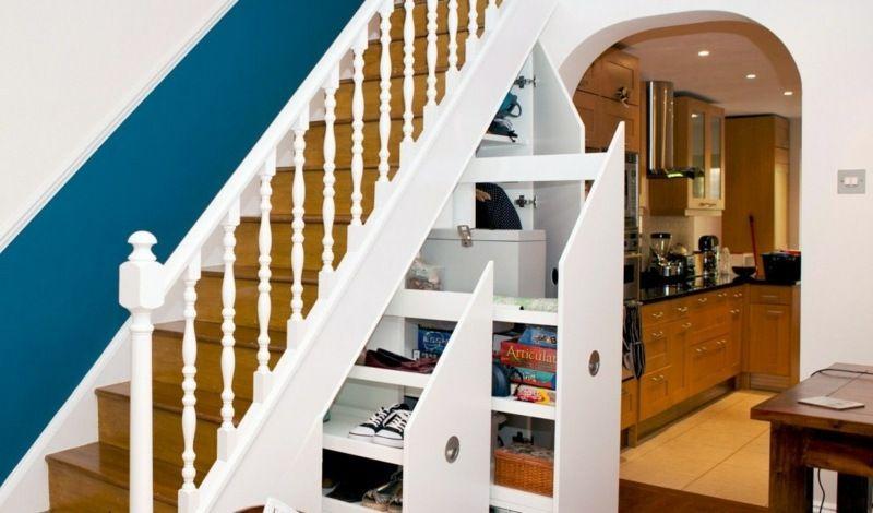 Wohnideen Unter Der Treppe schöne praktische lagerraum ideen unter der treppe schubladen haus