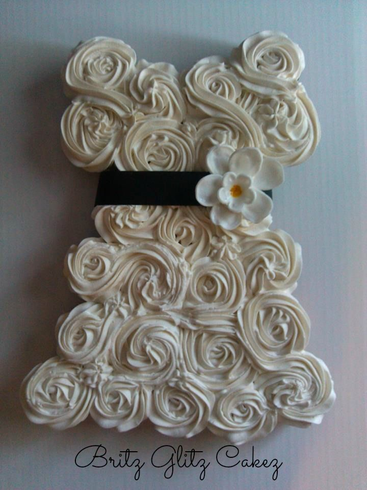 simple cupcake wedding dress | Bridal Shower | Pinterest | Simple ...