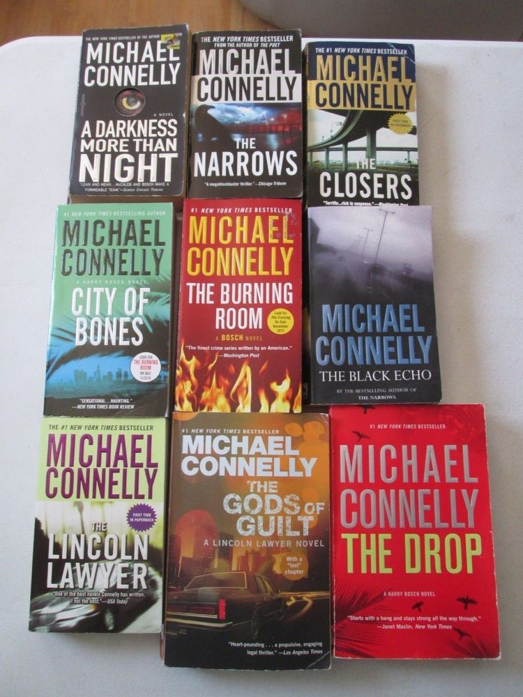 Michael Connelly Lot 9 Paperbacks Detective Harry Bosch Lincoln