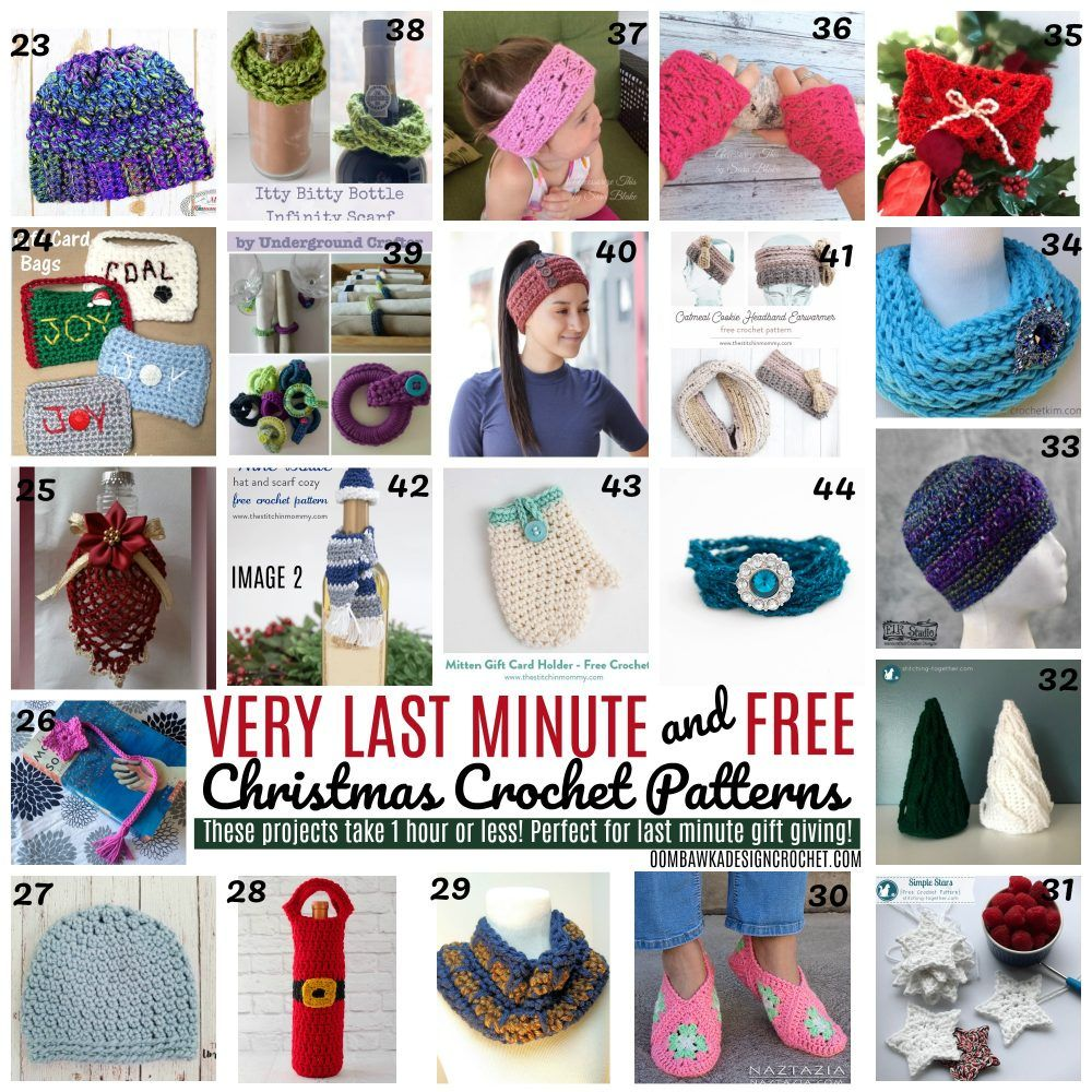 Very Last Minute Christmas Crochet Patterns