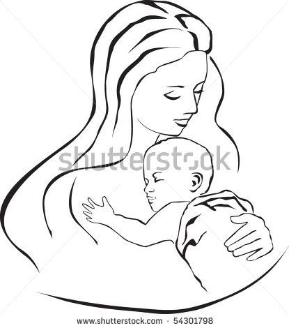 stock vector : Mother and child