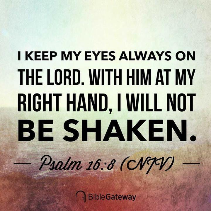 Psalms 16 8 Inspirational Image: Bible, Psalm 16, Scripture Verses