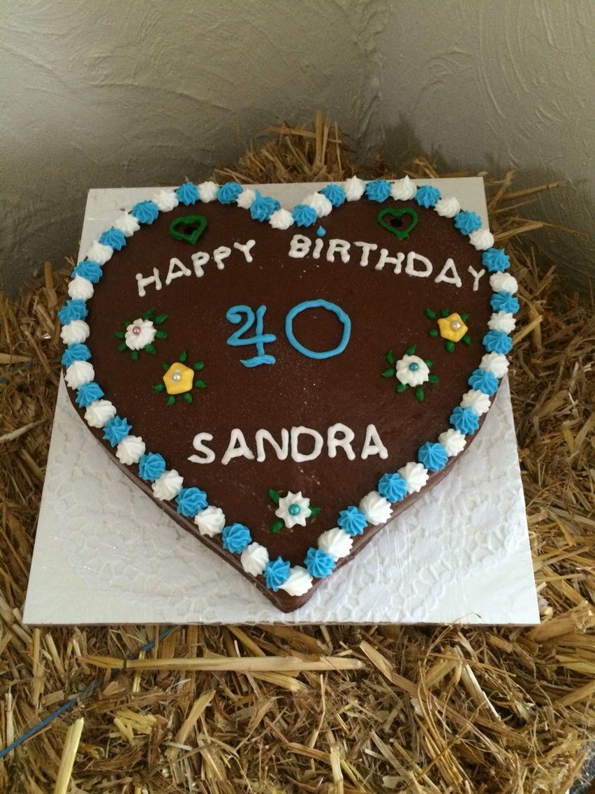 Torte Lebkuchenherz Fondant Backsternchen Sabrina