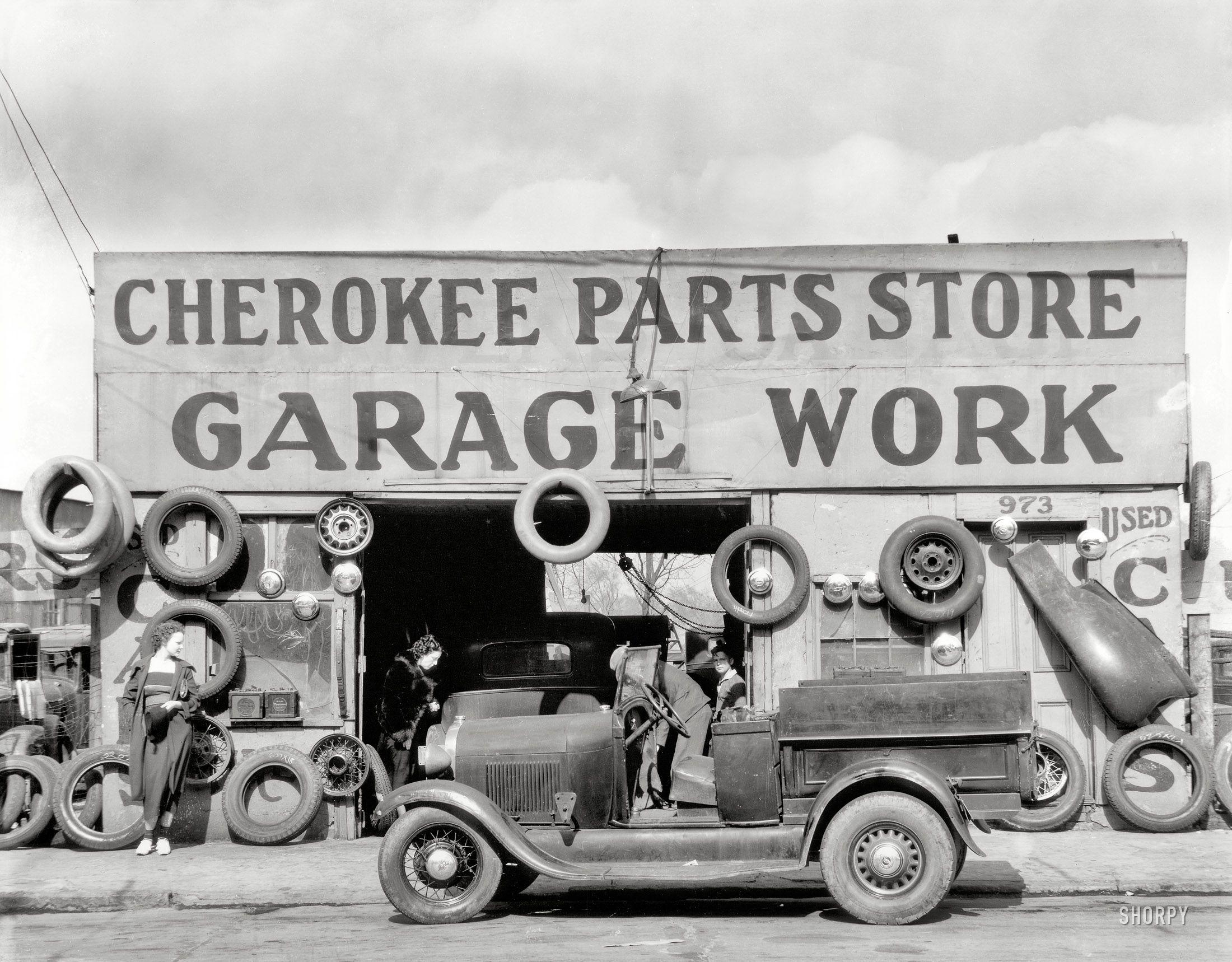 Cherokee Parts March 1936 Atlanta, Georgia auto parts shop . | The ...