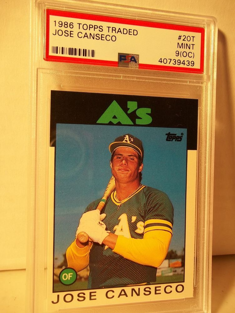 1986 topps traded jose canseco rookie psa mint 9oc