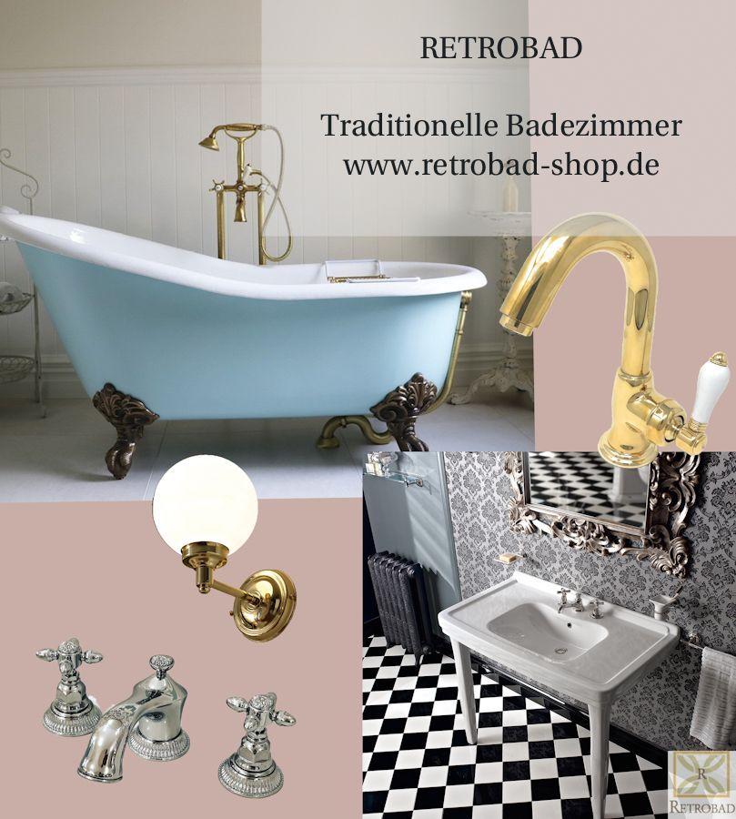 Retrobad Traditionelle Badezimmer In 2020 Traditional Bathroom Retro Bathrooms Ikea Organization