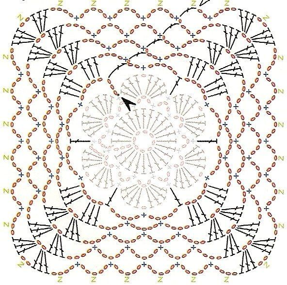 presina24a.jpg | ideas crochet | Pinterest | Cuadrados de crochet ...