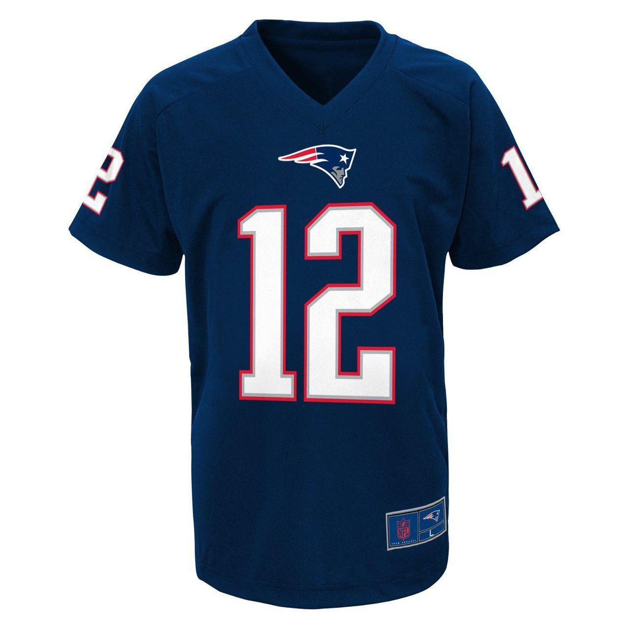 New England Patriots Tom Brady Youth Performance T-Shirt - Sportsfan