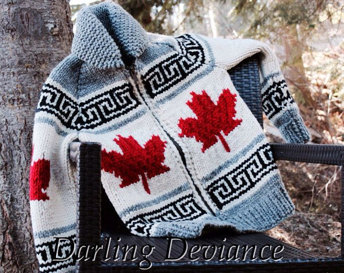 Pattern - Oh Canada Maple Leaf Vintage Canadian Style Sweater ...