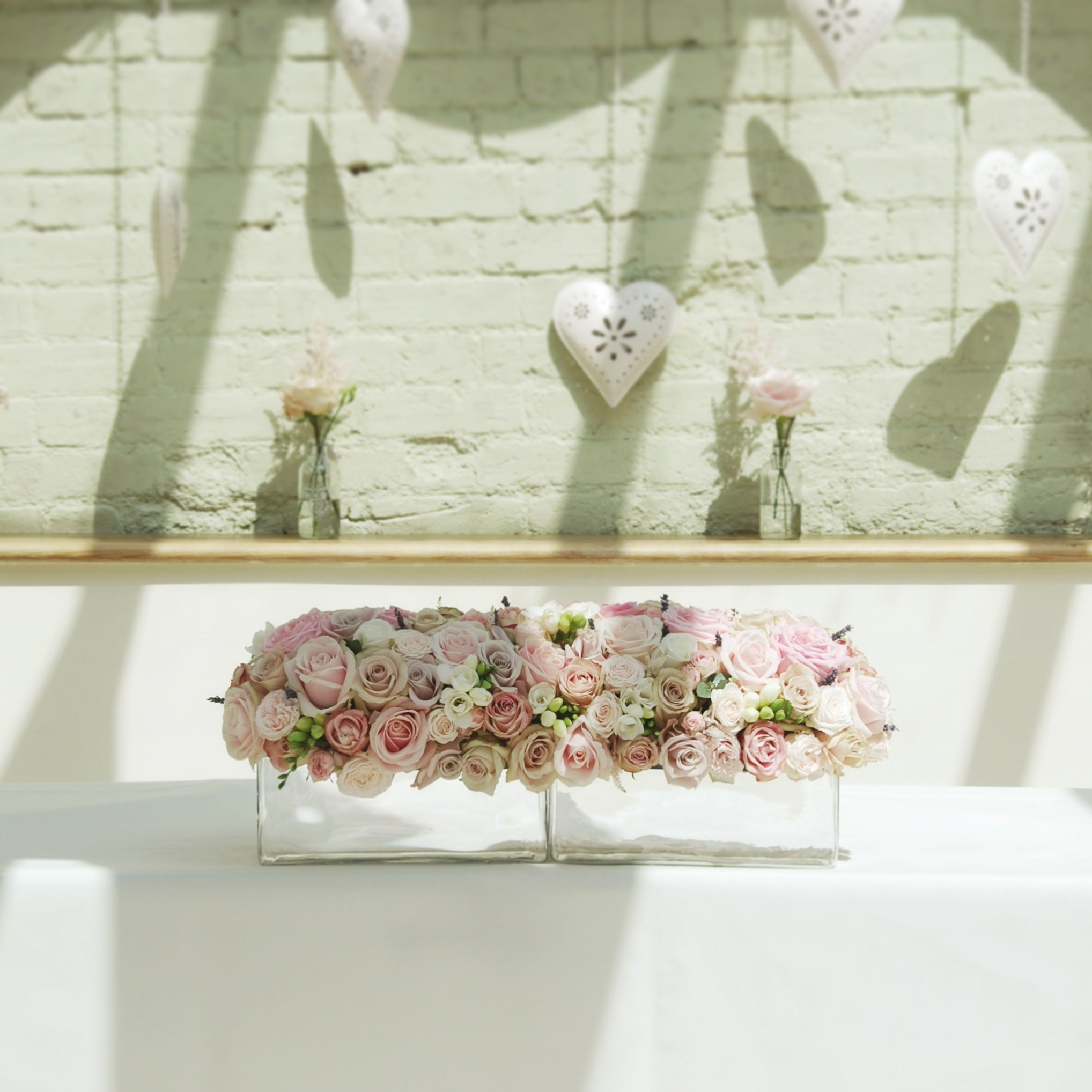 Pastel Pink Ceremony Flowers Gaynes Park Orangery Flowers By Lily