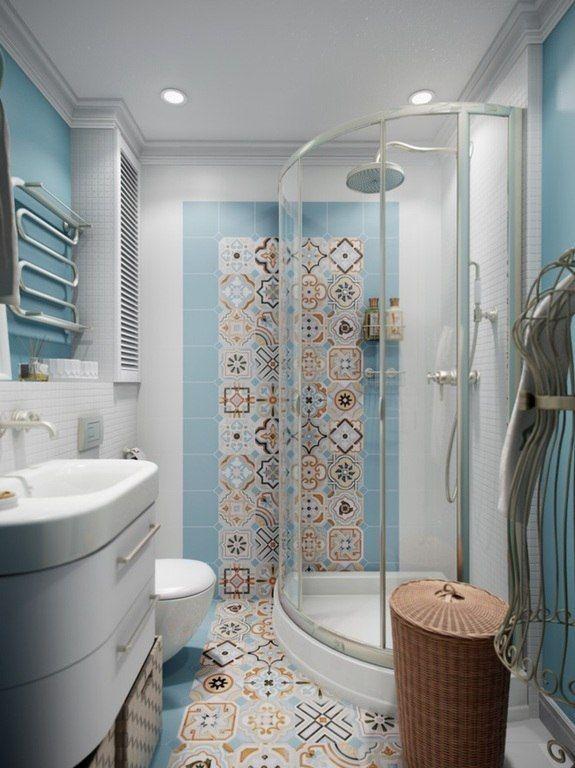 Light Blue Small Bathroom Golubye Vannye Komnaty Dizajn Vannoj Dizajn Nebolshoj Vannoj